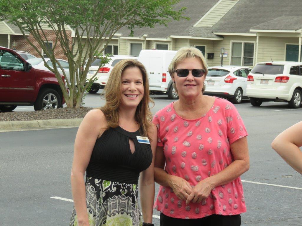 United Way Treasurer, Barbara Alexander and former Executive Director, Debbie Grant