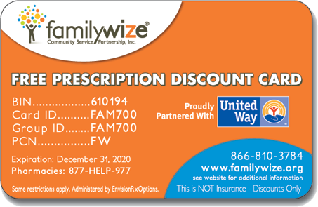 Prescription Drug Card Savings | United Way of Scotland